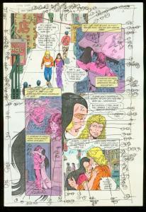 NEW TITANS #66 PRODUCTION ART DC COLOR GUIDE