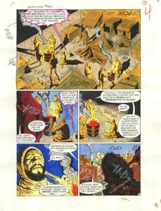 DETECTIVE COMICS #587-ORIGINAL D.C. PRODUCTION ART-PG 4 VG