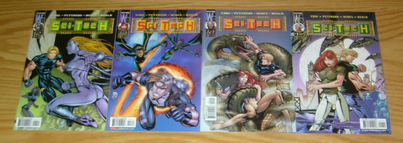 Sci-Tech #1-4 VF/NM complete series - ed benes - brandon choi - wildstorm 2 3