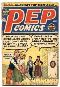 Pep Comics #98 1953- Archie- Katy Keene -Golf cover G-