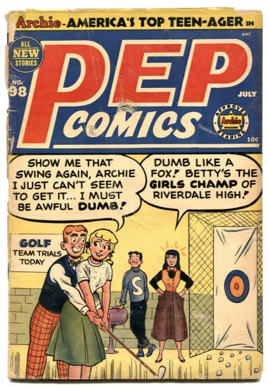 Pep Comics #98 1953- Archie- Katy Keene -Golf cover G-