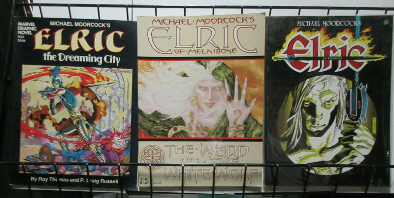 Michale Moorcock's Elric Graphic Novel Lot Dreaming City White Wolf Melnibone