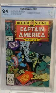 Captain America #360 - CBCS 9.4 - NM - OW/W - 1st Full CROSSBONES!