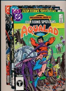DC Comics Lot of 4 - TEEN TITANS Spotlight #15,16,17,18 ~ VF (PF315)