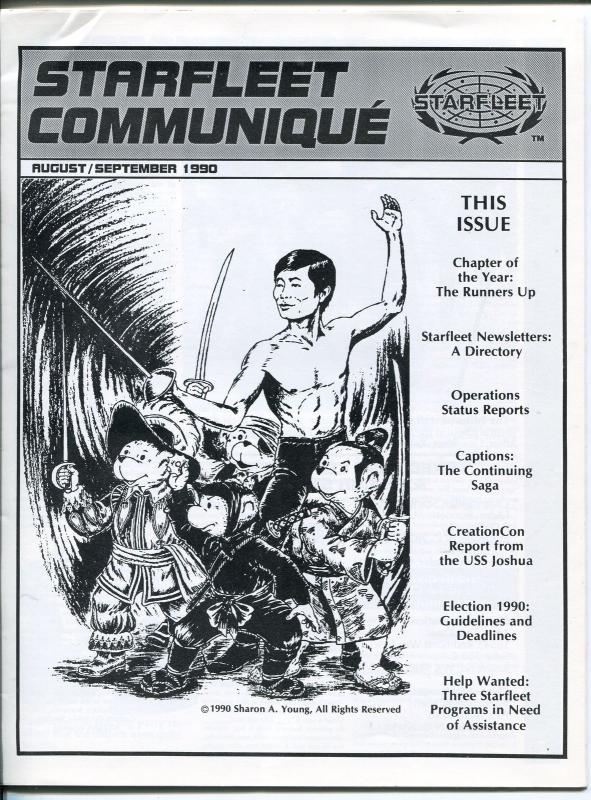 STARFLEET COMMUNIQUE #40-1990-STAR TREK FANZIN-8 1/4 X 11-nm