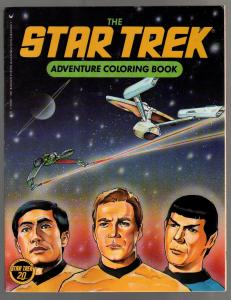 Star Trek Adventure Coloring Book #63244-2-1986-Spock-Kirk-games-puzzles-VF