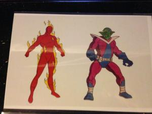 MArvel's Human Torch and Skrull Promotional Animation Cel