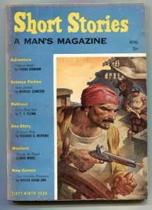 Short Stories April 1958- TT Flynn- Young As Texas VG