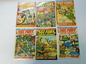 Bronze Age Sgt. Fury Comic Lot 20¢ Covers From #94-118 11 Diff Avg 5.0 (1972-74)