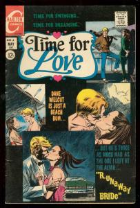 TIME FOR LOVE #4 1968-CHARLTON COMICS-BEACH BUM LOVE VG