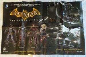 BATMAN ARKHAM KNIGHT Promo Poster, 22 x 34, 2015, DC,  Unused , 029