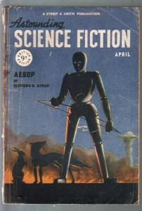 Astounding Science Fiction British Edition 4/1948-sci-fi pulp fiction-Van Vogt-G