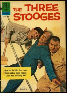 The Three Stooges #9 1962- Dell Comics- Photo cover VG