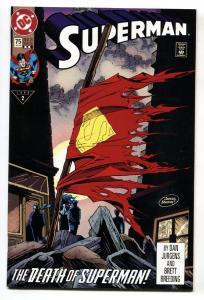 SUPERMAN #75-DEATH OF SUPERMAN- nm- - 2nd print.