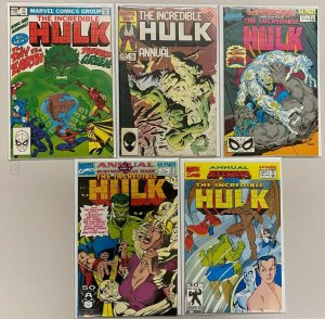Hulk Annuals Comic Lot 5 Different Books (1982-UP)