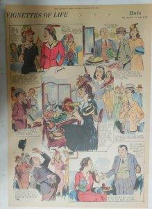 Vignettes Of Life by Kemp Starrett Hats ! 8/17/1941 Size: 15 x 22 inch