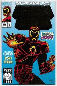Iron Man #290 Gold Foil Embossed Cvr | 1st App Telepresence Armor (1993) ITC336