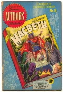 Stories by Famous Authors Illustrated #6 1950- MACBETH- SOTI vg-