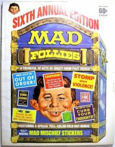 MAD FOLLIES (1968) 6 Fine yet MORE MISCHIEF STICKERS COMICS BOOK
