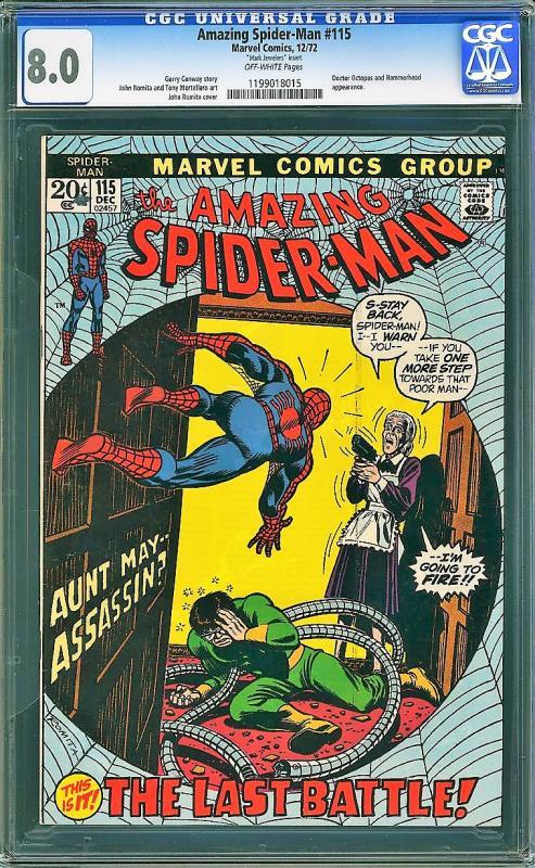 Amazing Spider-man #115 (Marvel, 1974) CGC 8.0 VF