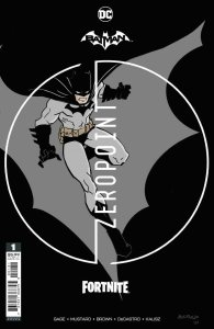 BATMAN FORTNITE ZERO POINT (2021 DC) #1 VARIANT PREMIUM MUSTARD NM with Code
