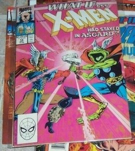 What If...? #12 (Apr 1990, Marvel) x-men stayed in asgard+storm thor thunderfrog