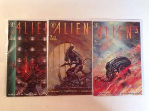 Alien 3 1-3 Complete Near Mint Lot Set Run