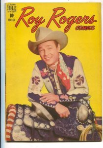 Roy Rogers #3 1948-Dell-B-western film star photo covers-Trigger photo inside...