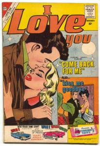 I Love You Comic #31 1960- Charlton Romance- FN