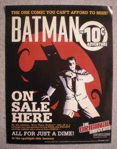 BATMAN THE 10c ADVENTURE Promo Poster, ,2001, Unused, more in our store