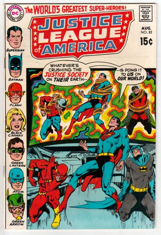 Justice League of America #82 (Aug-70) NM/NM- High-Grade Justice League of Am...