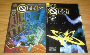 Q-L.O.C. Litary Optical Chronicles #1-2 VF/NM complete series - chaismus comics