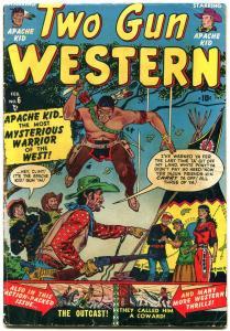 Two Gun Western #6 1951-Apache Kid- Maneely Art- Atlas comics VG