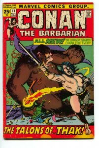 CONAN THE BARBARIAN #11 1971-MARVEL COMICS VG