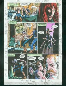 ORIGINAL D.C. COLOR GUIDE ROBIN ANNUAL #2 PG 4-SIGNED VG