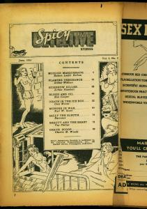 Spicy Detective Stories June 1935- Sideshow Killer- Arthur Humbolt POOR
