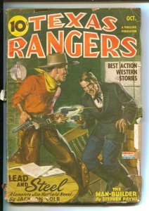 Texas Rangers 10/1944-Thrilling-hero pulp-Jim Hatfield appears-WWII era issue...