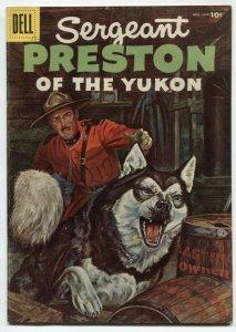 Sergeant Preston Of The Yukon #17 1956-Dell Silver Age VF-