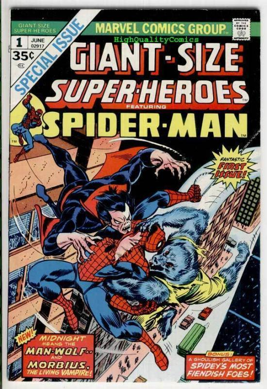 GIANT-SIZE SUPER-HEROES : SPIDER-MAN, VF+, Morbius,1974, more ASM in store