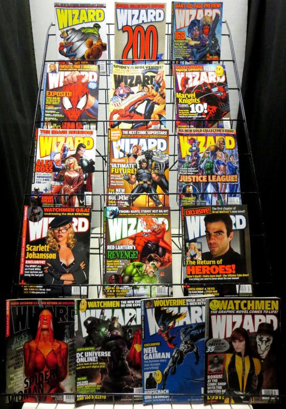 WIZARD Magazine Lot of 16 issues F-VF (Sept 2006 - May 2009) comic book info