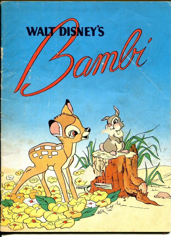 Walt Disney S Bambi 1941 Promo Comic Whitners Dept Store Pre Wwii Vg