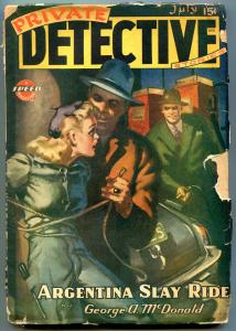 Private Detective Pulp July 1944- Superman comic- Argentina Slay Ride G