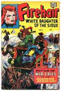 Firehair #8 1963- Golden Age comic reprint- Jan of the Jungle VG/F