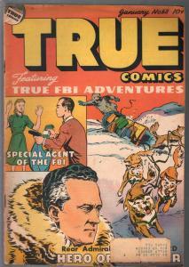 True #68 1948-Parents-Capt Hugh Mulzal-Admiral Byrd-Steve Saunders-FBI-VG