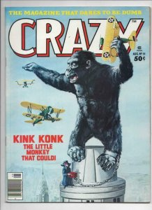 CRAZY #19 Magazine, FN+, King Kong NYC 1973 1976, more in store