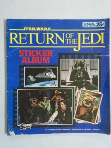 Star Wars Return of the Jedi Sticker Album 4.0 VG (1983 Topps)