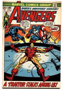 AVENGERS #106-Comic Book-1972-BLACK PANTER-VF-