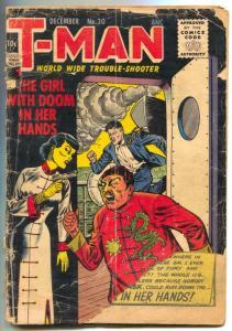 T-Man #30 1956- Asian menace- low grade comic
