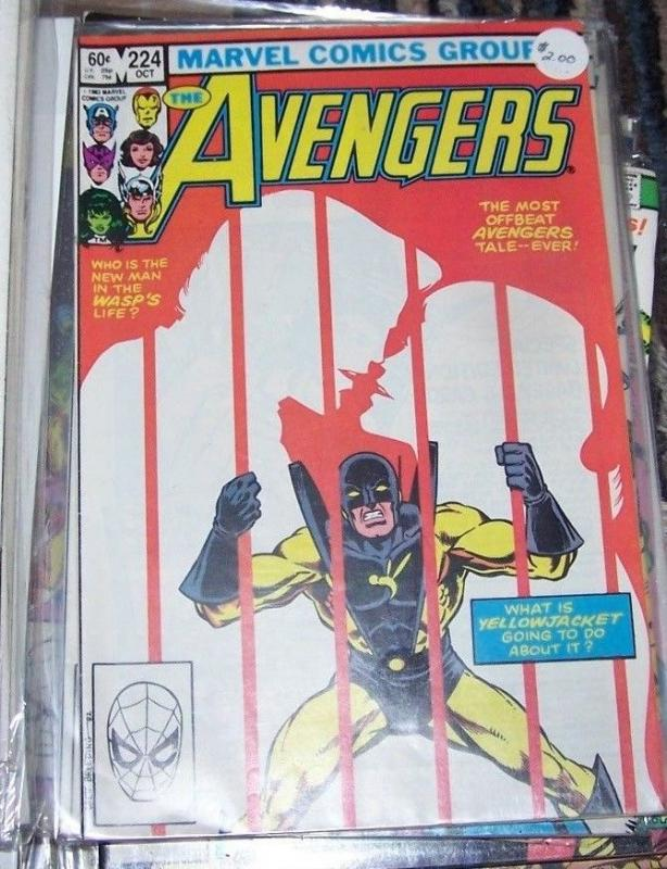 Avengers # 224 (Oct 1982, Marvel) YELLOWJACKET WASP TONY STARK