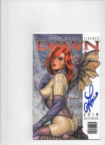 DAWN SKETCHBOOK 2018, NM, Joseph Linsner, Signed, Ashcan size, more in store